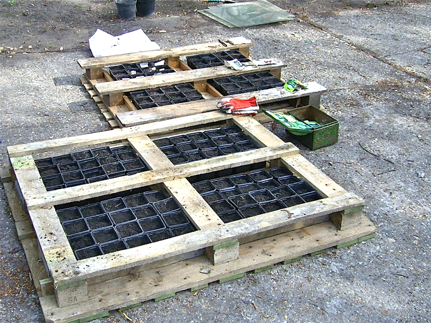 Pallet gardening st lucas institute ghent willem van for Flower beds out of pallets