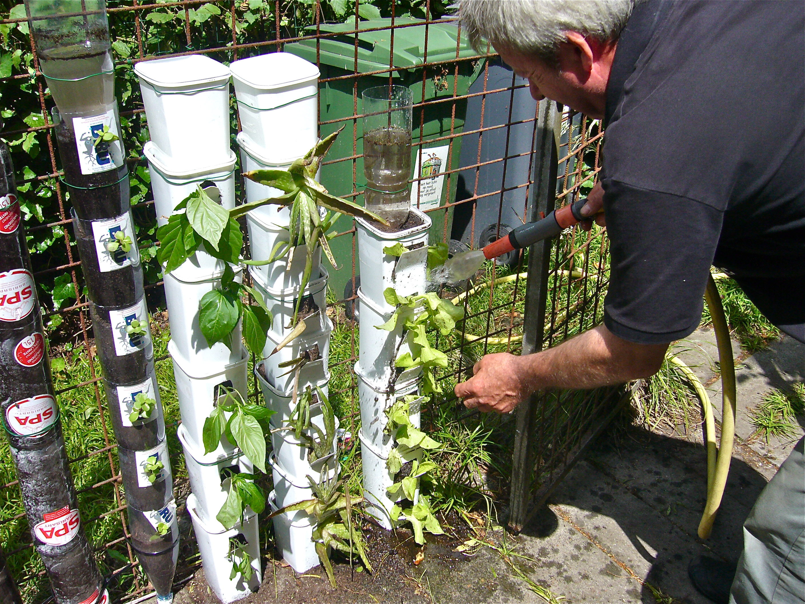 Bottle and pot tower gardening Ibagu Greenbelt Willem