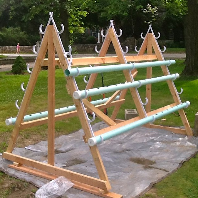 A permanent base types of NFT system with pvc pipe   downspouts See more at. Homemade vertical A frame hydroponic system   CONTAINER GARDENING